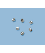 (20) NEW, SOLID STERLING SILVER CRIMP BEAD ENDS - $6.66