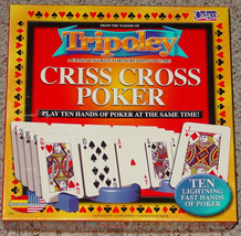 TRIPOLEY CRISS CROSS POKER  TEN HANDS OF POKER CADACO 2005 COMPLETE EXCE... - $20.00