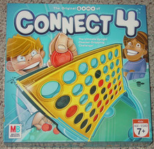 CONNECT 4 GAME 2006 VERTICAL CHECKERS GAME MILTON BRADLEY COMPLETE EXCEL... - £8.78 GBP