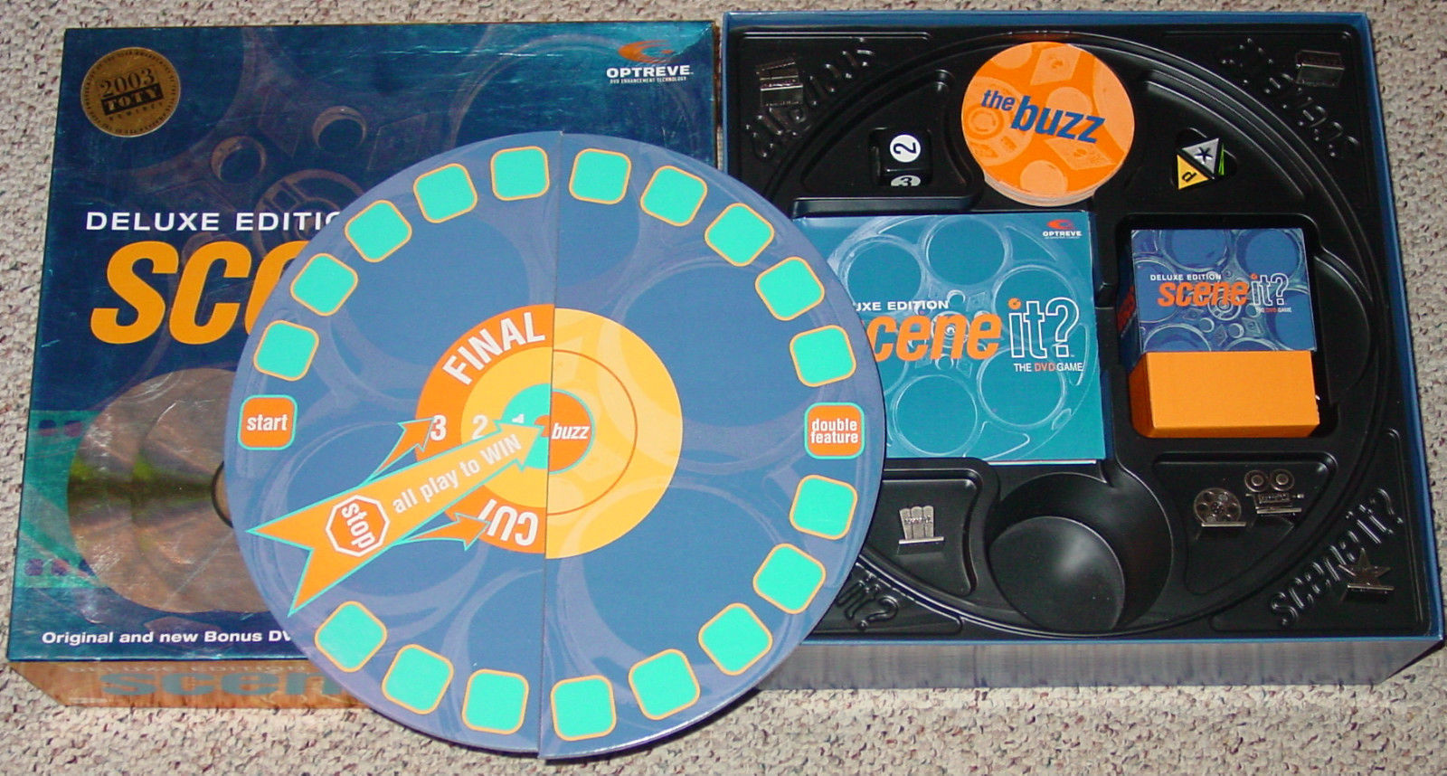 SCENE IT DVD GAME DELUXE EDITION 2004 MATTEL SCREENLIFE LIGHTLY PLAYED CONDITI image 2