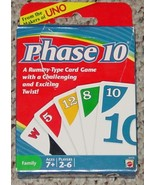 PHASE 10  CARD GAME 2010 MATTEL NEW SEALED CARDS OPEN BOX  COMPLETE EXCE... - $12.00