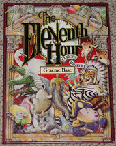 BOOK ELEVENTH HOUR BOOK CURIOUS MYSTERY BY GRAEME BASE 1989 SCHOLASTIC CLUB - $10.00