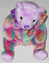 TY BEANIE BABY FEBRUARY BEAR Beanbag plush TAG 4389 PE 2001 BIRTHDAY BEAR - $10.00