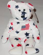 TY BEANIE BABY GLORY BEAR Beanbag plush Original TAG 1998 PE 4188 5TH GEN - $10.00