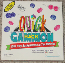 BACKGAMMON QUICK BACKGAMMON GAME FOR KIDS 1997 AMERIGAMES COMPLETE - $20.00
