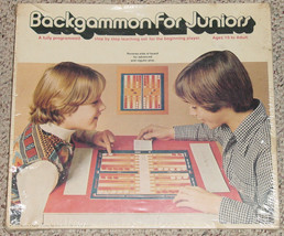 BACKGAMMON FOR JUNIORS NEW FACTORY SEALED BOX 1977 SELCHOW & RIGHTER GAMES - $15.00