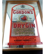 Large 1970s Gordon's Dry Gin Dar Mirror - Very Unique - Perfect for any ... - $79.00