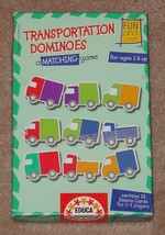 TRANSPORTATION DOMINO MATCHING GAME EDUCA COMPLETE EXCELLENT MADE IN SPAIN - $25.00