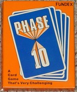 PHASE 10 CHALLENGING CARD GAME 1986 FUNDEX GAMES COMPLETE NEW SEALED EXC... - $20.00