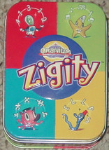 Cranium Zigity Cranium Card Game Cool Clear Cards Tin 2005 Complete Lightly Used - $10.00