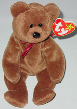 TY BEANIE BABY TEDDY BEAR BEANBAG plush TAG 4050 PVC 1993 4 OR 5TH GENER... - $10.00