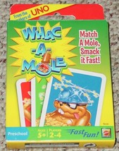 WHAC A MOLE CARD GAME 2009 MATTEL PRESCHOOL COMPLETE NEW SEALED CARDS EX... - $15.00