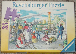 PUZZLE AT THE RAILWAY STATION PUZZLE 2000 RAVENSBURGER MADE IN FRANCE CO... - $15.00