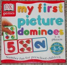 DOMINOES MY FIRST PICTURE DOMINO NUMBER FUN PRESCHOOL CHILDREN 1999 DK G... - $20.00