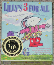 LILLYS 3 FOR ALL CARD GAME 1998 GAMEWRIGHT COMPLETE MADE IN USA - $20.00