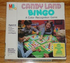 CANDYLAND CANDY LAND BINGO COLOR RECOGNITION GAME 1984  MILTON BRADLEY C... - $12.00