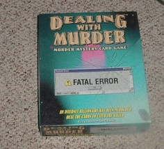 DEALING WITH MURDER MYSTERY CARD GAME FATAL ERROR 2000 TDC GAMES COMPLETE - $15.00