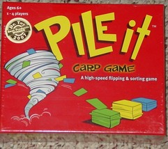 PILE IT CARD FLIPPING & SORTING GAME 2007 FUNSTREET GAMES NEW FACTORY SE... - $15.00