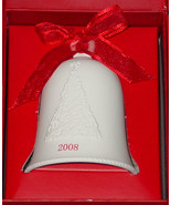 BELLS HALLMARK PORCELAIN DATED BELL DATED 2008 IN RED GIFT BOX - $3.00