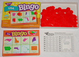 USA BINGO GAME TREND ENTERPRISES 1995 T106 LEARNING FUN GAME COMPLETE EX... - $15.00