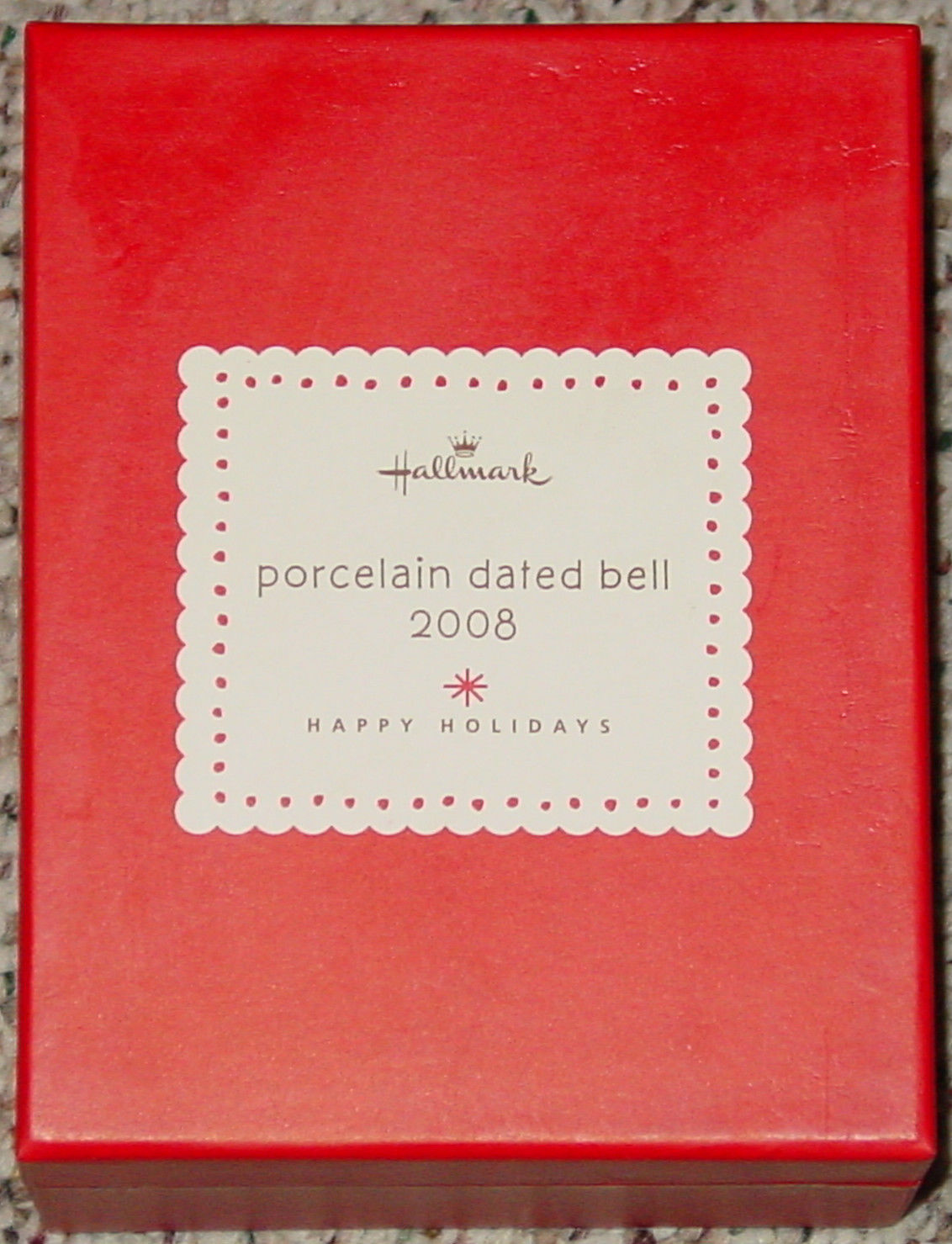 BELLS HALLMARK PORCELAIN DATED BELL DATED 2008 IN RED GIFT BOX image 2