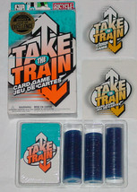 TAKE THE TRAIN CARD GAME 2007 BICYCLE GAMES FACTORY SEALED CARDS & CHIPS... - $20.00