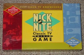 NICK AT NIGHT CLASSIC TV GAME TRIVIA 1998 CARDINAL COMPLETE EXCELLENT - $20.00