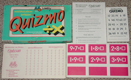 MULTIPLICATION DIVISION QUIZMO 1993 EDUCATIONAL LOTTO GAME MEDIA MATERIA... - $20.00