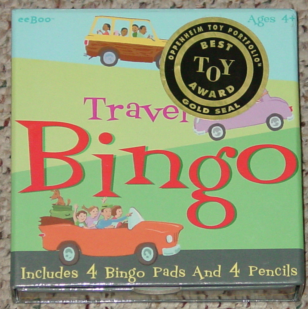 TRAVEL BINGO GAME 2003 EEBOO COMPLETE EXCELLENT