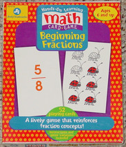 MATH CARD GAME BEGINNING FRACTIONS JUDY INSTRUCTO 1999 #J1010 - $20.00