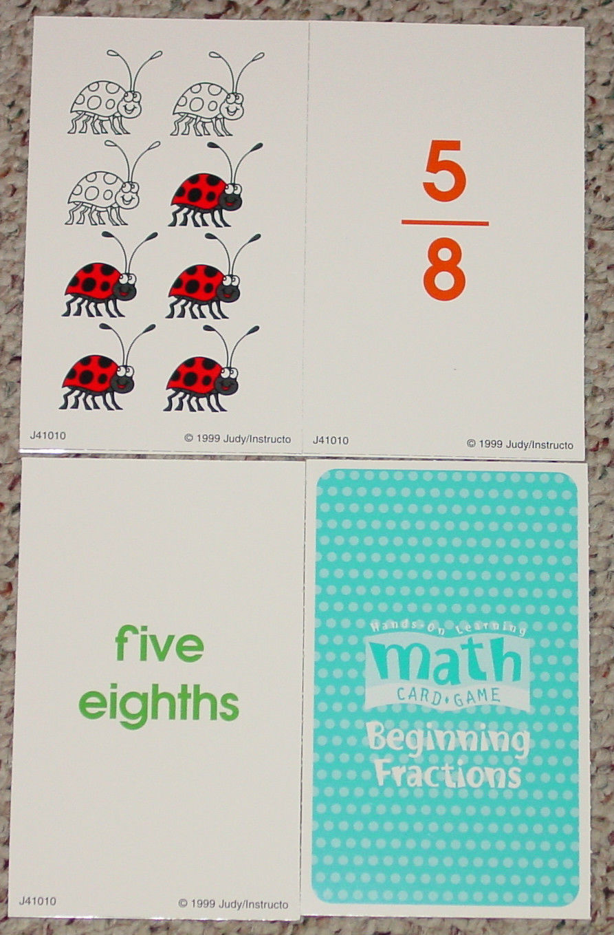 Math Card Game Beginning Fractions Judy and 50 similar items
