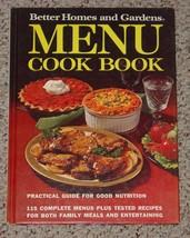 COOKBOOK BETTER HOMES & GARDENS MENU COOK BOOK 1973 HC 1ST ED HC MEREDITH - $6.00