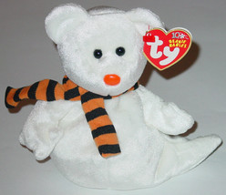 TY BEANIE BABY QUIVERS GHOST beanbag plush 11TH GEN TAG 2003 PE 40018 - $10.00