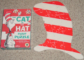 PUZZLE CAT IN THE HAT FUZZY JIGSAW 2000 UNIVERSITY GAMES DR SEUSS COMPLETE - $12.00