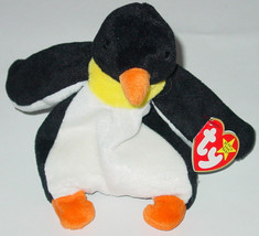TY BEANIE BABY WADDLE PENQUIN BEANBAG plush TAG 4075 PVC 1995 - $10.00