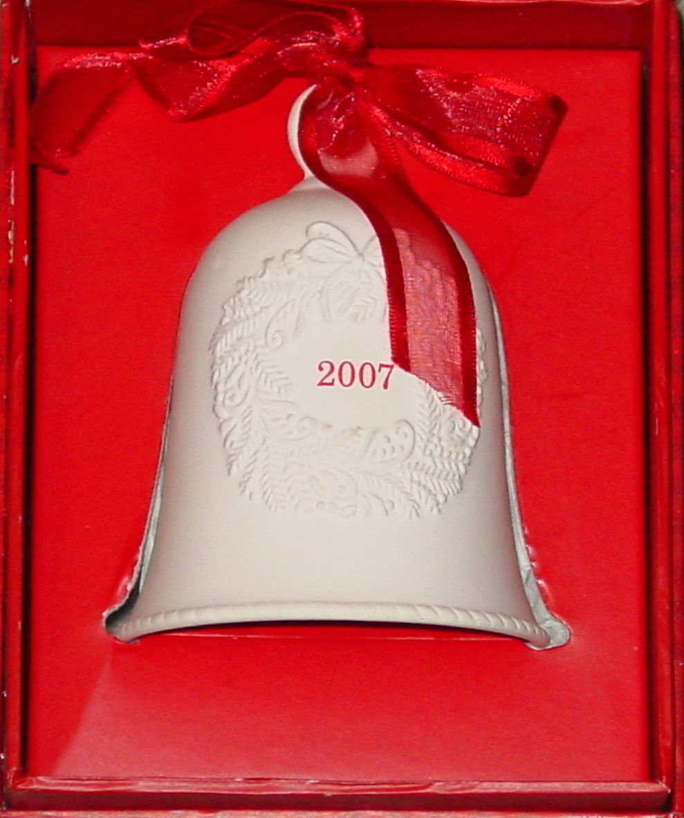 BELLS HALLMARK PORCELAIN DATED BELL DATED 2007 IN RED GIFT BOX