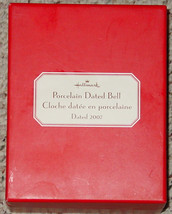 BELLS HALLMARK PORCELAIN DATED BELL DATED 2007 IN RED GIFT BOX image 3