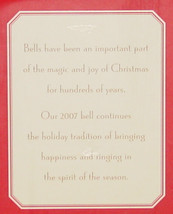 BELLS HALLMARK PORCELAIN DATED BELL DATED 2007 IN RED GIFT BOX image 2