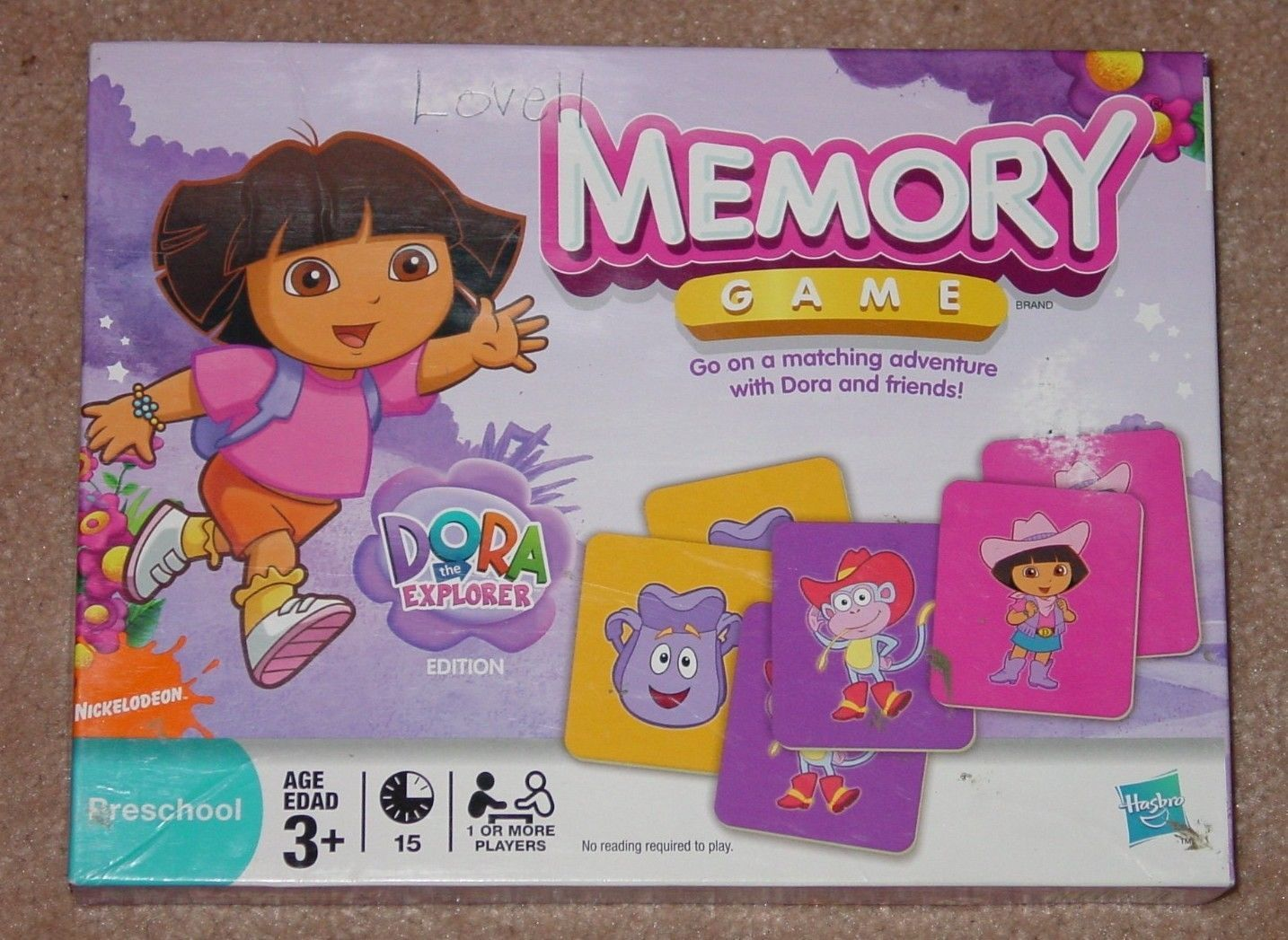 Primary image for MEMORY GAME DORA MATCHING ADVENTURE WITH DORA & FRIENDS 2005 HASBRO COMPLETE