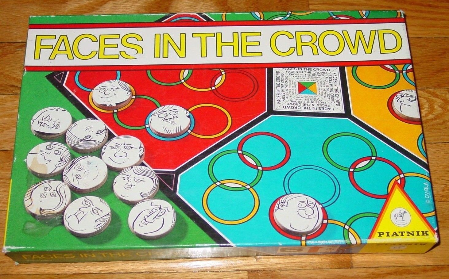FACES IN THE CROWD GAME 1987 PIATNIK #403 COMPLETE LIGHTLY PLAYED - $15.00