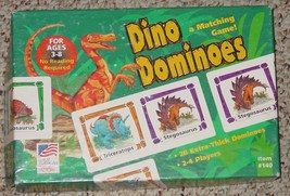 DOMINOES DINO DOMINOES MATCHING GAME 2000 GREAT AMERICAN PUZZLE FACTORY ... - $12.00