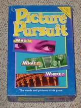 Picture Pursuit Words & Picture Trivia Game 1994 Parker Brothers Nib Complete - $20.00