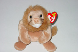 TY BEANIE BABY ROARY LION beanbag 4069  PE 1996 GENERATION 4 OR 5 - $10.00