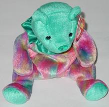 TY BEANIE BABY DECEMBER BEAR Beanbag plush TAG 2001 PE 4387 BIRTHDAY BEAR - $10.00