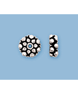 (6)  NEW, SOLID STERLING SILVER BALI STYLE  BEADS - $9.29