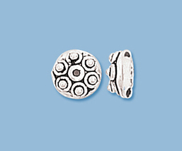 (6) NEW STERLING SILVER BALI BEADS CAPS - $9.29