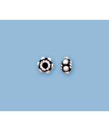 (8) NEW STERLING SILVER BALI BEADS  - $8.42