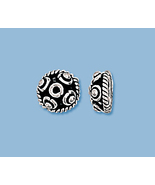 (8) NEW STERLING SILVER  BALI STYLE  BEAD CAPS - $9.29