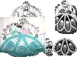 Southern Belle - Crinoline Lady pillowcase crochet & embroidery pattern LW505  - $5.00