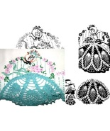 Southern Belle - Crinoline Lady pillowcase crochet & embroidery pattern ... - $5.00